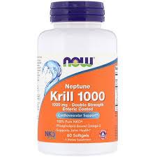 Now Foods, <b>Neptune Krill 1000</b>, <b>Double</b> Strength, 1000 mg, 60 ...