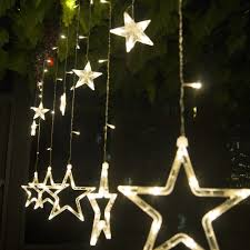 cheap christmas decor: m  led curtain star string fairy light christmas decoration led light idea for wedding