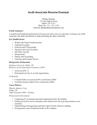 resume for cia sample