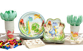 192 Pieces Dinosaur Party Supplies Pack - Serves 20 ... - Amazon.com