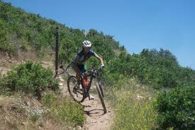 what are your mountain biking dreams goals aspirations student jen hanks working on tight switchbacks