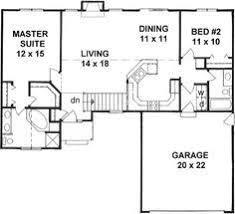 ideas about Bedroom House Plans on Pinterest   House plans    Style House Plans   Square Foot Home   Story  Bedroom and