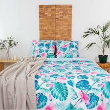 <b>Комплект постельного белья</b> «Монстера» <b>полутораспальный</b> ...