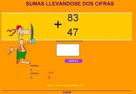 Resultado de imagen de SUMAS LLEVÁNDOSE DOS CIFRAS