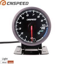 <b>Free Shipping CNSPEED 60MM</b> Tachometer 0 10000 Rpm gauge ...