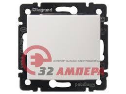 Кнопочный <b>выключатель</b> белый <b>Legrand Valena 774411</b>
