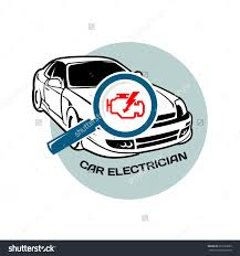 car electrician logo template auto scan stock vector  car electrician logo template auto scan for errors