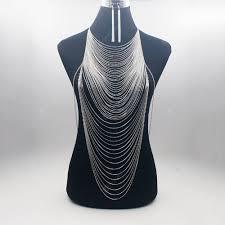 <b>Luxury</b> Fashion Shiny Body Waist Chain Bra Slave Harness ...