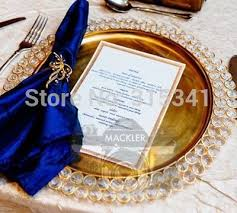 charger plates decorative: pcs ctns free shipment quot nickel amp iron wedding gold charger plates
