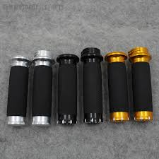 "1"" 25mm Black <b>Motorcycle Parts</b> CNC <b>Handle</b> Bar <b>Hand Grips</b> For ..."
