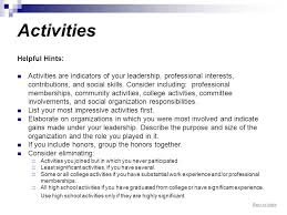 back to index networking resume guide networking resume guide    back to index activities helpful hints  activities are indicators of your leadership  professional interests
