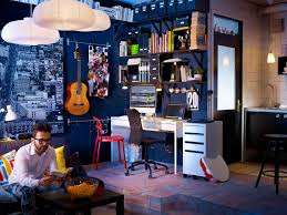 home office cool work spaces decorating ideas for working dark blue decor music room blue office room design