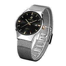 <b>WWOOR Top</b> Luxury <b>Brand</b> Watch <b>Men</b> Ultra Thin Stainless Steel ...