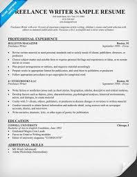 freelance writer resume example resumecompanioncom writing sample resume