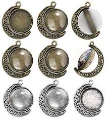 OBSEDE 30Pcs Moon Pendant Trays Sets-<b>10Pcs</b> Double-Sided ...