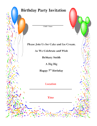 doc sample party invitation templates com template for invitation card birthday party wedding