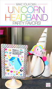 Make Your Own <b>Unicorn Headbands Party Favors</b> - Soiree Event ...