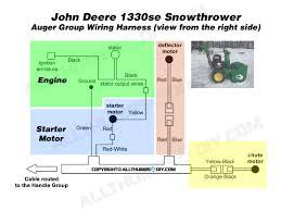 john deere se snowblower wiring harness for the auger group snow thrower john deere 1330se wiring harness