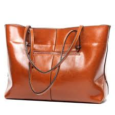 <b>Women's Genuine</b> Leather Tote <b>Shoulder Bags</b> – Luxy Moon