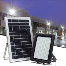 <b>150 led solar powered</b> flood light motion sensor light control wall ...