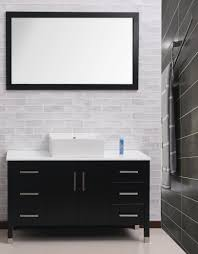 grey grasscloth wallpaper modern bathroom