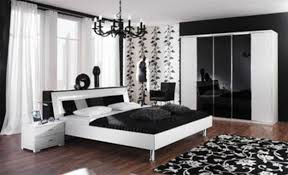 surprising floral pattern for black and white rug and wall mural completing bedroom interior black white bedroom interior