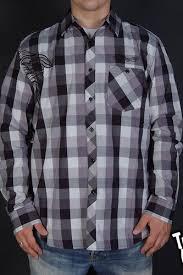 <b>Рубашка CROOKS & CASTLES</b> Bandito Box Plaid (Grey, S ...