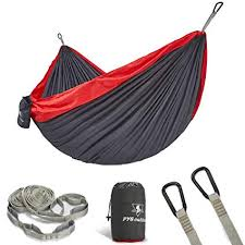 pys Double Portable Camping Hammock with Straps ... - Amazon.com