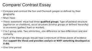 comparing paleolithic societies of the san of southern africa and compare contrast essay compare and contrast the san and chumash people as defined by their