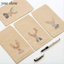 <b>5pcs</b>/<b>Lots</b> Vintage StyLe Elk Head Envelope Kraft Paper Simple ...