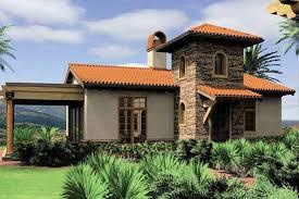 Mediterranean House Plans   Houseplans comMediterranean Exterior   Front Elevation Plan       Houseplans com