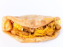 taco bell s breakfast menu ranked eater how does a national chain make an ian pupusa a corn tortilla stuffed cheese palatable to consumers who can t that country on a map