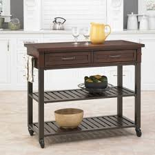 wood top prep table kitchen cart cabin creek kitchen cart by home styles