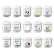 1PC Cute <b>Cartoon</b> DIY Transparent Hard <b>PC Earphone</b> Case ...