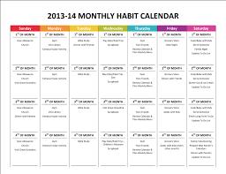 goal calendar template printable calendar  time management gone like rainbows