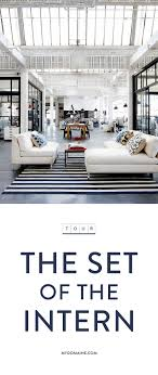 step onto the set of the hit film the intern with anne hathaway and robert de amazing office space set
