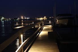 deck dock bench lighting