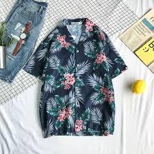 Floral Printed <b>Tropical Shirts Men</b> Hawaii Style <b>Men's</b> Shirts <b>Summer</b> ...