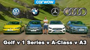 <b>Audi A3</b> v BMW 1 Series v VW Golf v Mercedes A-Class: which is best?