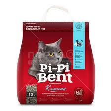 Наполнитель для кошачьего туалета комкующийся, 5 кг, <b>Pi</b>-<b>Pi</b> ...