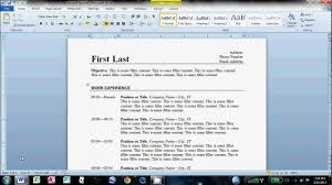 how to make an easy resume in microsoft word