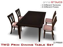 kitchen table sets bo: anna erotica two prim dining table set
