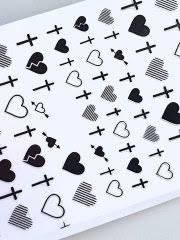 Набор <b>наклеек</b> сердечки-крестики, черный <b>Lovely</b> 11582977 в ...