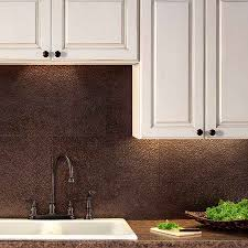 images copper backsplash pinterest pvc  quot x  quot faux tin backsplash panels