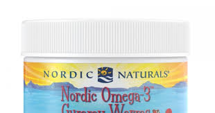 Nordic Naturals <b>Nordic Omega-3 Gummy Worms</b> Strawberry Gummy ...