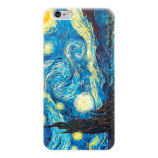 Чехол для iPhone 6 глянцевый Звездная ночь, Ван Гог #445940 ...