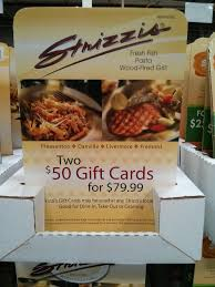 massimo s spin a yarn steakhouse strizzi s discount gift cards gift card strizzis costco