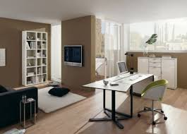 office space design ideas interior cool office workspace walled red bench table light chairs wallpaper wood awesome plushemisphere home office design