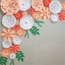 30cm <b>diy paper</b> flowers leaves backdrop decorations kid birthday ...