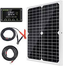 Topsolar Solar Panel Kit 20W 12V Monocrystalline ... - Amazon.com